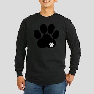 Double Paw Long Sleeve Dark T-Shirt