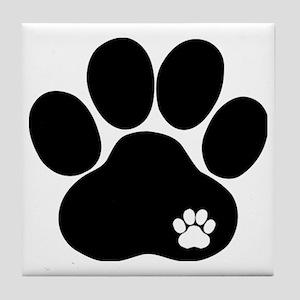 Double Paw Tile Coaster
