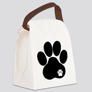 Double Paw Canvas Lunch Bag