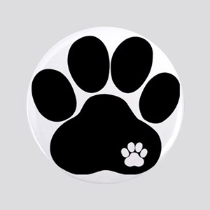 "Double Paw 3.5"" Button"