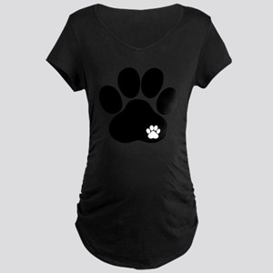 Double Paw Maternity Dark T-Shirt