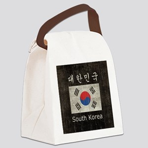 Vintage South Korea Canvas Lunch Bag