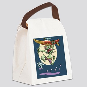 surf-monster-CRD Canvas Lunch Bag