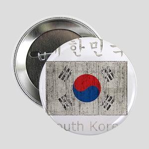 "Vintage South Korea 2.25"" Button"