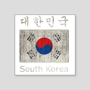 "Vintage South Korea Square Sticker 3"" x 3"""