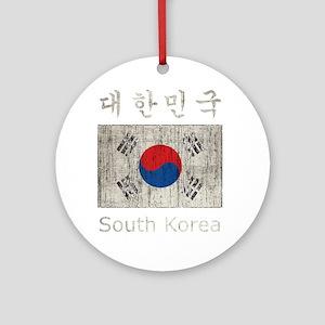 Vintage South Korea Round Ornament