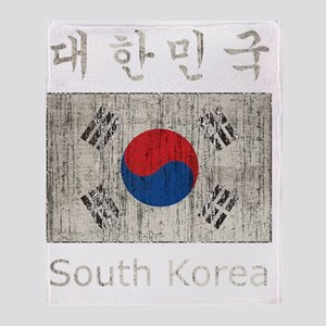 Vintage South Korea Throw Blanket