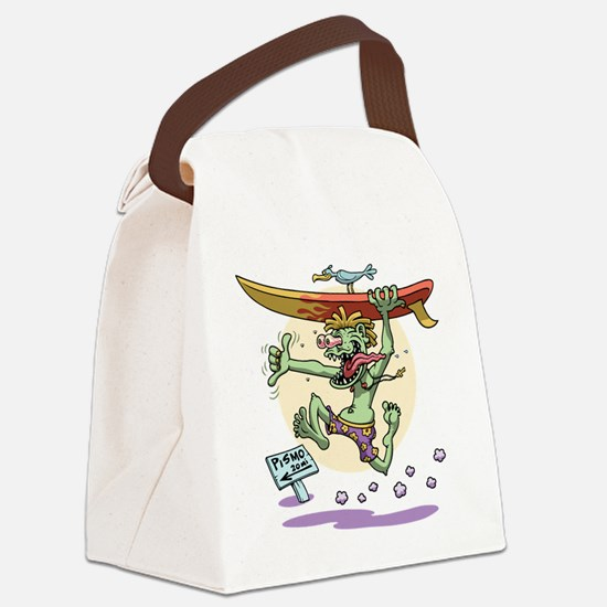 surf-monster-T Canvas Lunch Bag