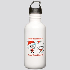 Cute Christmas Characters Water Bottle