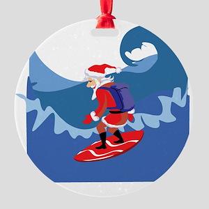 Surfing111 Round Ornament