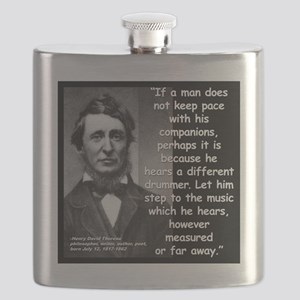 Thoreau Drummer Quote 2 Flask