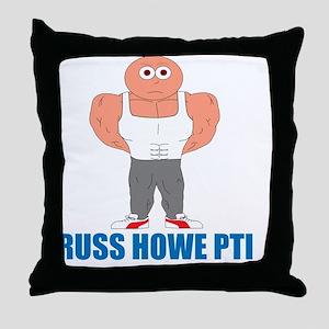 Russ Howe PTI Cartoon Throw Pillow