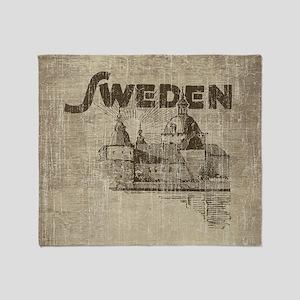 Vintage Sweden Throw Blanket