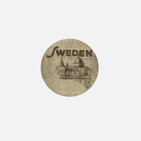 Vintage Sweden Mini Button