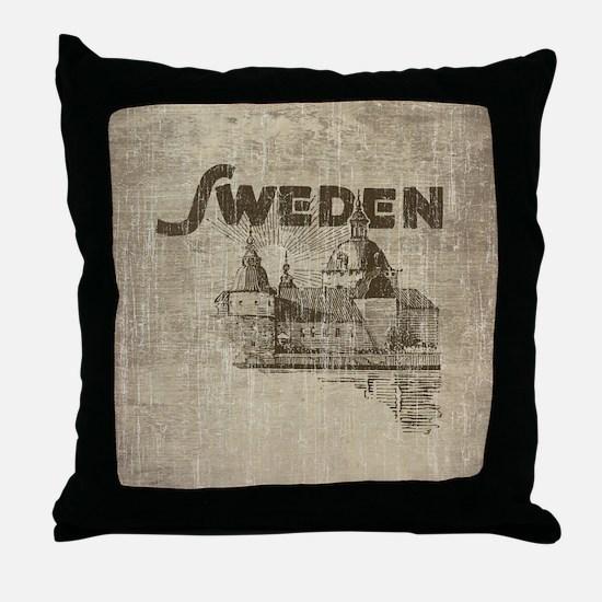 Vintage Sweden Throw Pillow