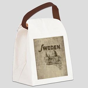Vintage Sweden Canvas Lunch Bag
