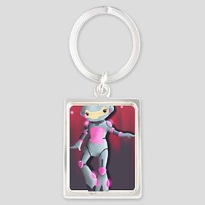 RoboGirl Portrait Keychain