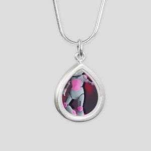 RoboGirl Silver Teardrop Necklace