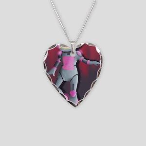 RoboGirl Necklace Heart Charm