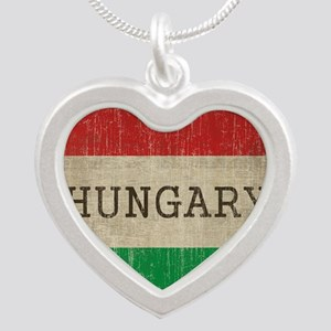 Vintage Hungary Silver Heart Necklace