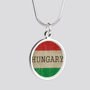 Vintage Hungary Silver Round Necklace