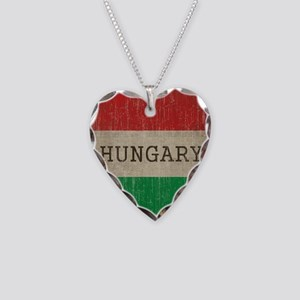 Vintage Hungary Necklace Heart Charm
