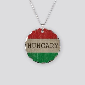 Vintage Hungary Necklace Circle Charm