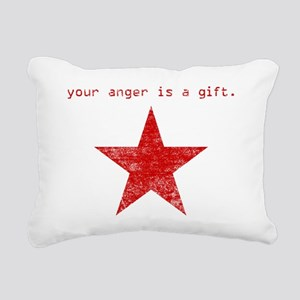 YOUR ANGER IS A GIFT Rectangular Canvas Pillow
