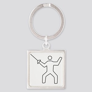 Fencing16 Square Keychain