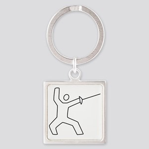 Fencing13 Square Keychain