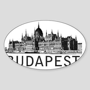 Budapest Sticker (Oval)