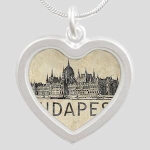 Vintage Budapest Silver Heart Necklace