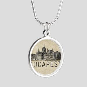 Vintage Budapest Silver Round Necklace