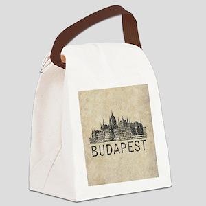 Vintage Budapest Canvas Lunch Bag