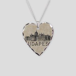 Vintage Budapest Necklace Heart Charm