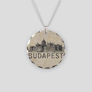 Vintage Budapest Necklace Circle Charm