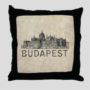 Vintage Budapest Throw Pillow