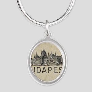 Vintage Budapest Silver Oval Necklace