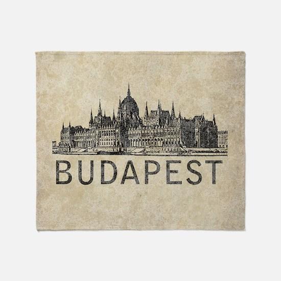 Vintage Budapest Throw Blanket
