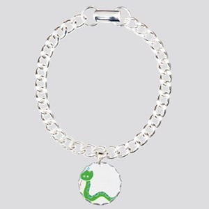 Funny Year of Snake Charm Bracelet, One Charm