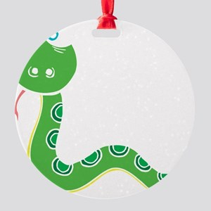 Funny Year of Snake Round Ornament