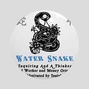 Year of the Water Snake Round Ornament