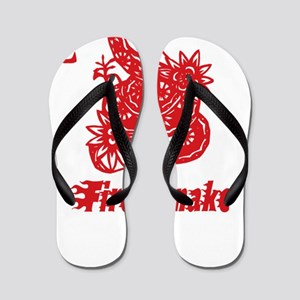 Year of Fire Snake Flip Flops