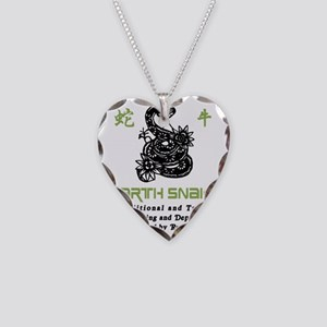 Year of Earth Snake Necklace Heart Charm
