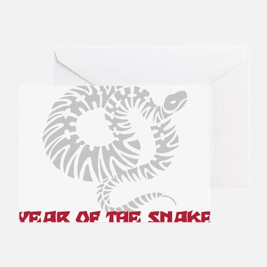Year of Snake Greeting Card