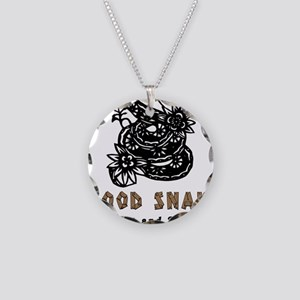 Year of Wood Snake Necklace Circle Charm