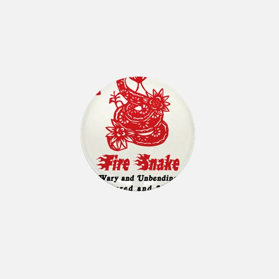 Year of Fire Snake Mini Button