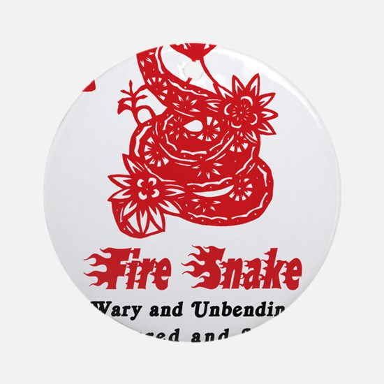 Year of Fire Snake Round Ornament