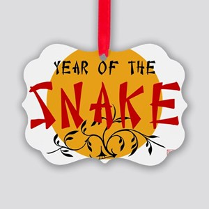 Year of Snake Picture Ornament
