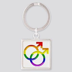 gay Male Symbol Square Keychain